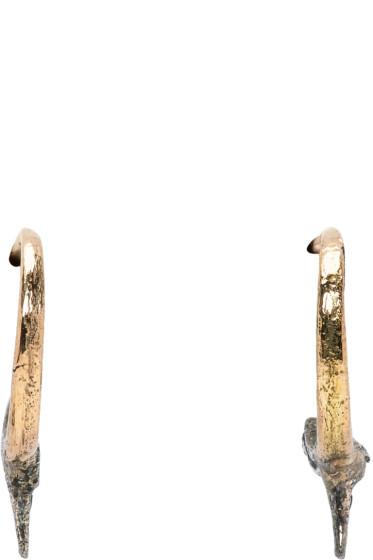 Pearls Before Swine - Gold & Silver Small Thorn Hoop Earrings