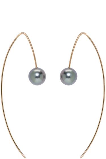 Pearls Before Swine - Gold Tahitian Pearl Earrings