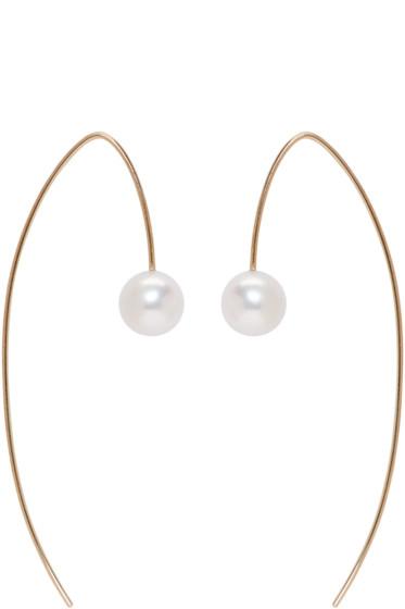 Pearls Before Swine - Gold Akoya Pearl Drop Earrings