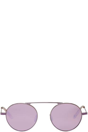 Garrett Leight - Purple Zeno Sunglasses