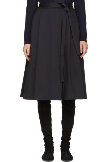 Jil Sander Navy - Navy Wrap Skirt