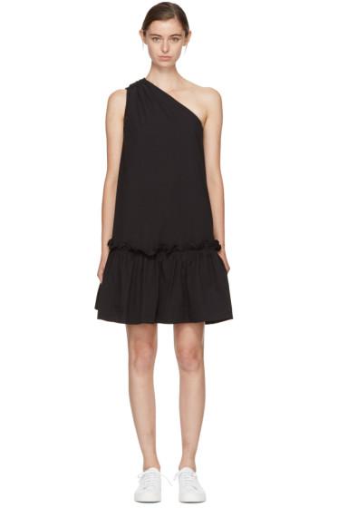 Edit - Black Single-Shoulder Dress