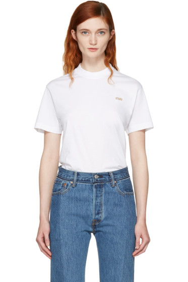 Vetements for women aw17 collection ssense for Vetements basic staff t shirt
