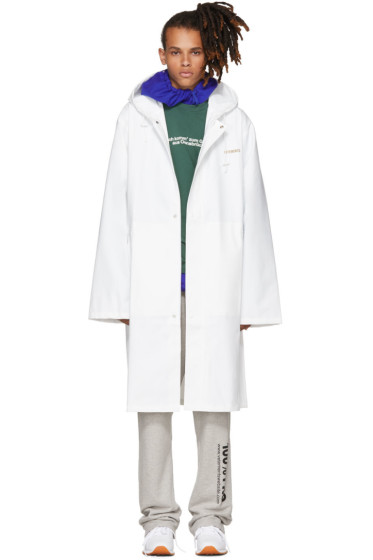 Vetements - White Logo Raincoat