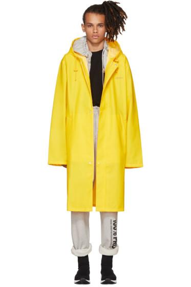 Vetements - Yellow Logo Raincoat