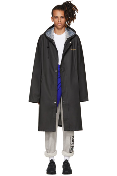 Vetements - Black Logo Raincoat