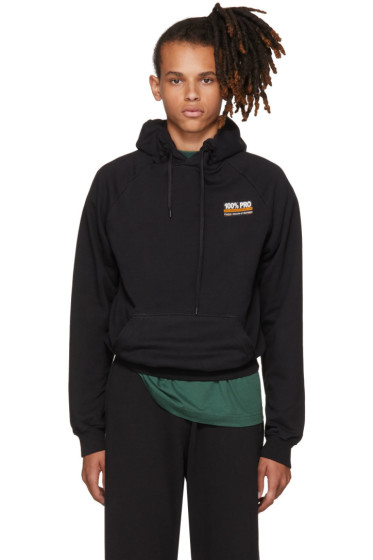Vetements - Black '100% Pro' Normal Fitted Hoodie