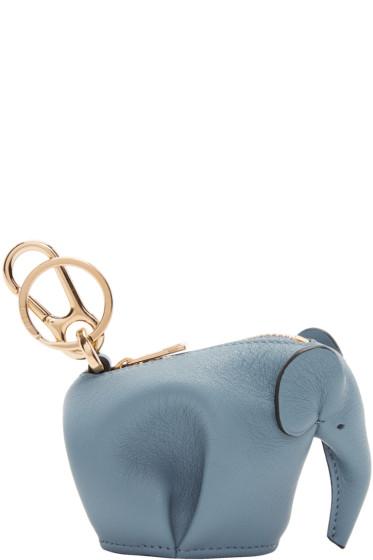 Loewe - Blue Elephant Charm Keychain
