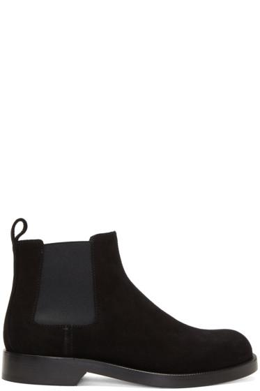 Loewe - Black Suede Chelsea Boots