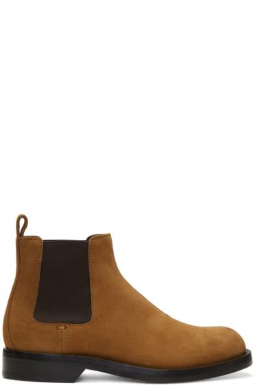 Loewe - Tan Suede Chelsea Boots