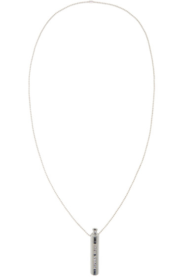 Palm Angels - Silver Pipe Necklace