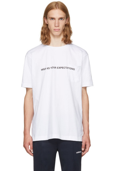 Palm Angels - White 'High As Your Expectations' T-Shirt