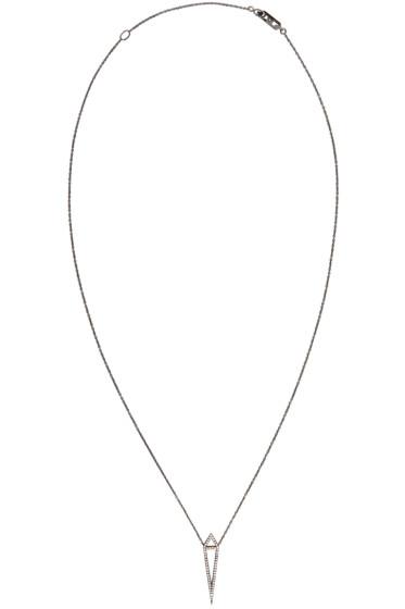 Eva Fehren - Black Gold Diamond Dagger Necklace