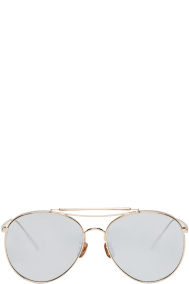 Gentle Monster - Gold Big Bully Sunglasses