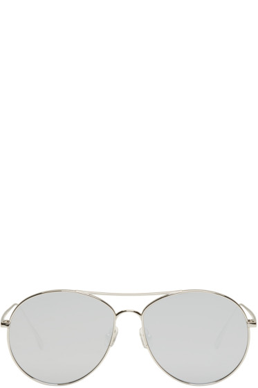 Gentle Monster - Silver Ranny Ring Aviator Sunglasses