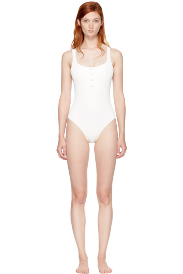 Solid & Striped - Ivory STAUD Edition 'The Veronica' Swimsuit