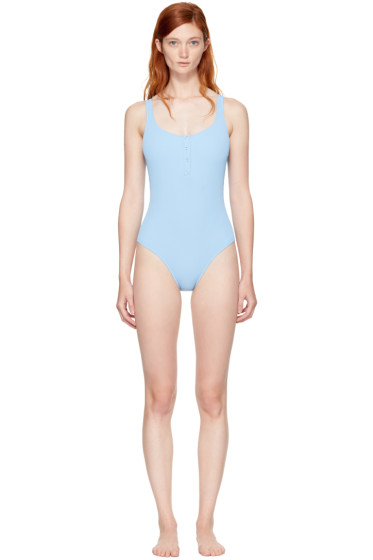 Solid & Striped - Blue STAUD Edition 'The Veronica' Swimsuit