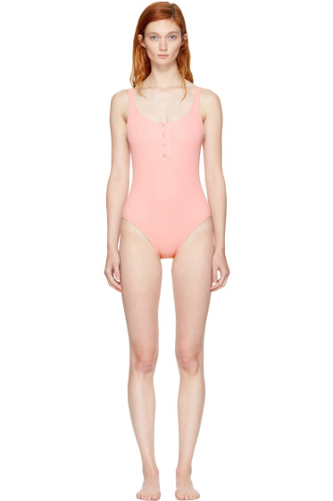 Solid & Striped - Pink STAUD Edition 'The Veronica' Swimsuit