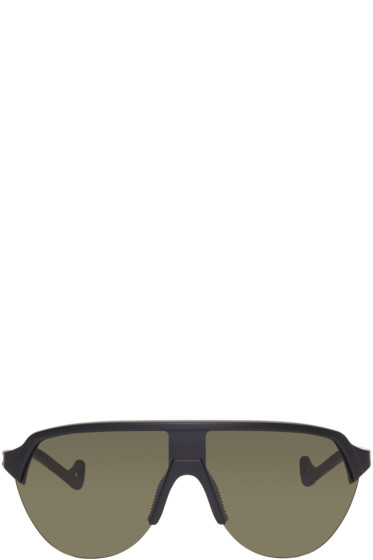 District Vision - Black & Green Nagata Sunglasses