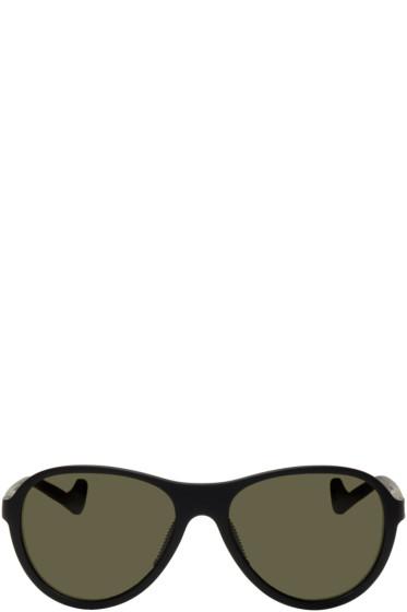 District Vision - Black & Green Kaishiro Sunglasses