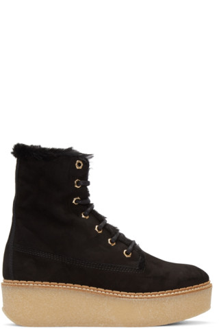 Flamingos SSENSE Exclusive Shearling Stacy Boots