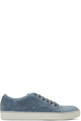 Lanvin: Blue Suede Tennis Sneakers | SSENSE