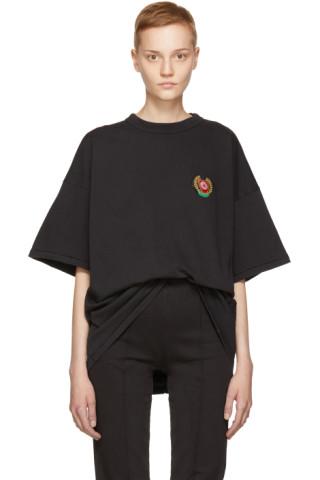 YEEZY - Black Crest Logo Classic T Shirt