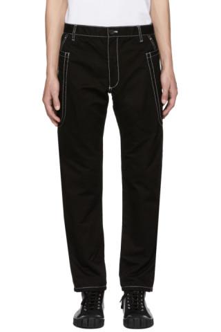 Pantalon Skinny à Coutures Contrastées Noir by Comme Des GarÇons Shirt
