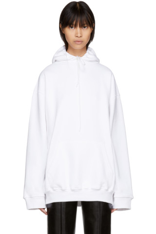balenciaga hoodie womens white