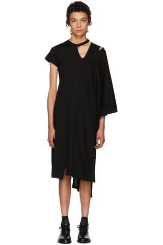 Facetasm black asymmetric mantle t shirt dress ssense for How to dress a mantle