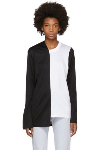 Marques almeida black white bell bottom sleeve t shirt for Bell bottom sleeve shirt