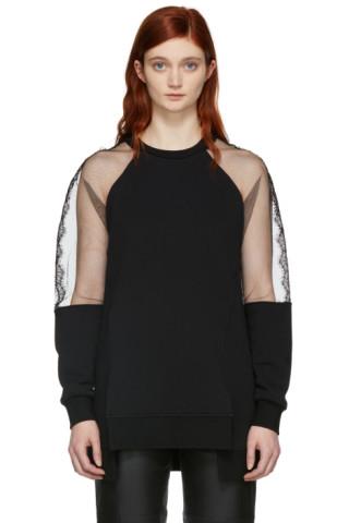 McQ Alexander McQueen - Black Hybrid Asymmetric Sweatshirt