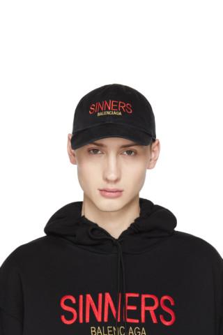 22c9dc7ed1a Balenciaga  Black  Sinners  Cap