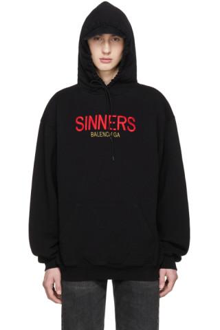 e0efe0a86a3 Balenciaga  Black Oversized  Sinners  Hoodie