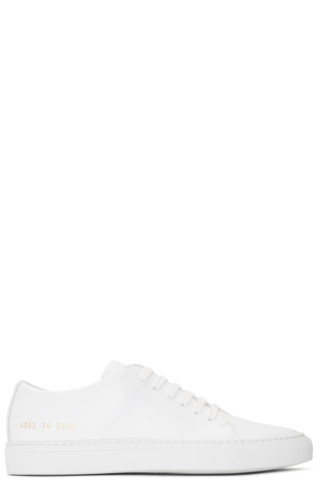 Woman by Common Projects - White New Court Low Sneakers