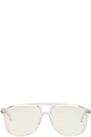 485e6633 Gucci - Transparent Rectangular 80's Sunglasses