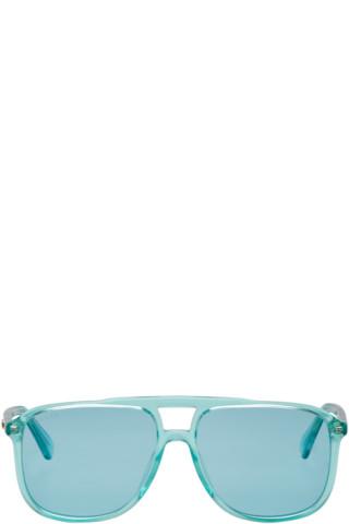 63cd2e93 Gucci - Blue Transparent 80's Monocolor Sunglasses
