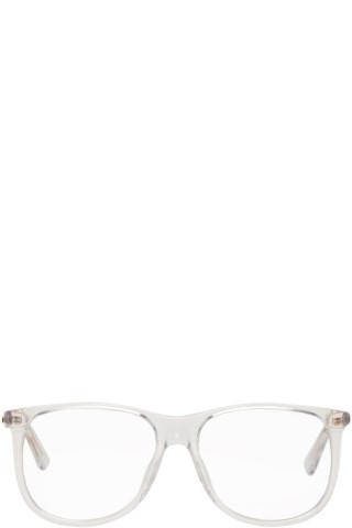 2cbdf97a Gucci - Transparent Square 80's Sunglasses
