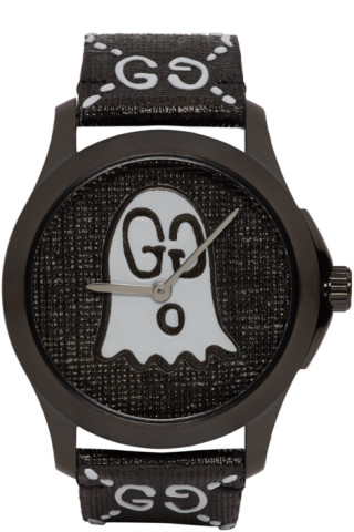 Black G Timeless Gucci Ghost Watch by Gucci