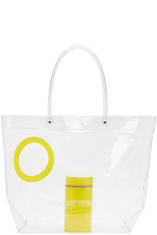 Building Block - Ssense Exclusive Yellow Transparent Vinyl Peephole Tote