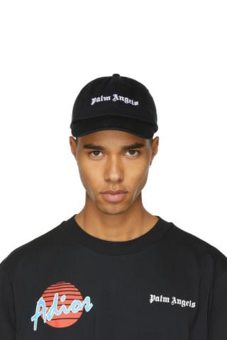 Black Logo Vintage Cap Palm Angels