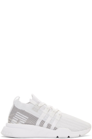 adidas Originals - White Eqt Support Mid Adv Sneakers