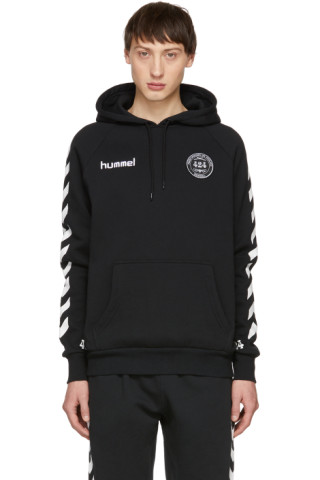 397bbe62260 424: Black Hummel Edition Fleece Hoodie | SSENSE
