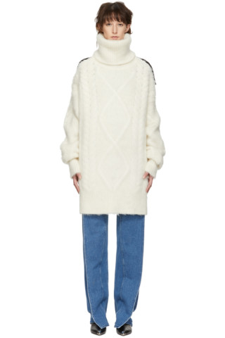 Off White Knit Turtleneck by Maison Margiela