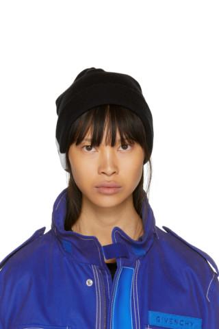 d9e4a9191a5 Givenchy  Reversible Black   White 4G Wool Knit Beanie