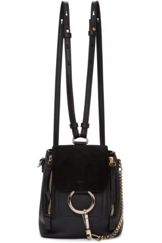 Black Mini Faye Backpack by ChloÉ