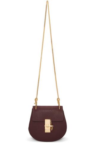 Burgundy Mini Drew Bag by ChloÉ