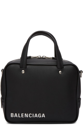 87c36319e2b Balenciaga: Black XS Triangle Square Bag | SSENSE