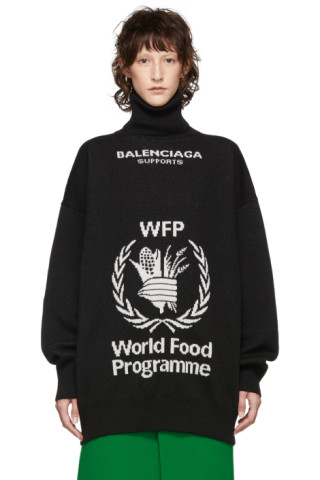 938e6d53bb74 Balenciaga  Black World Food Programme Turtleneck
