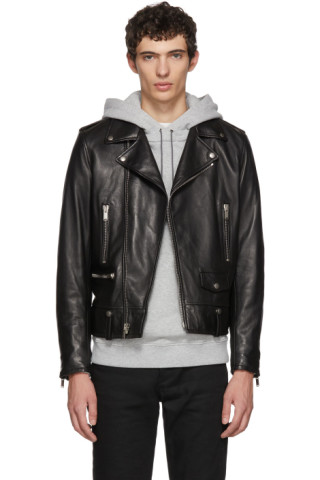 e50a392a Saint Laurent - Black L01 Moto Jacket